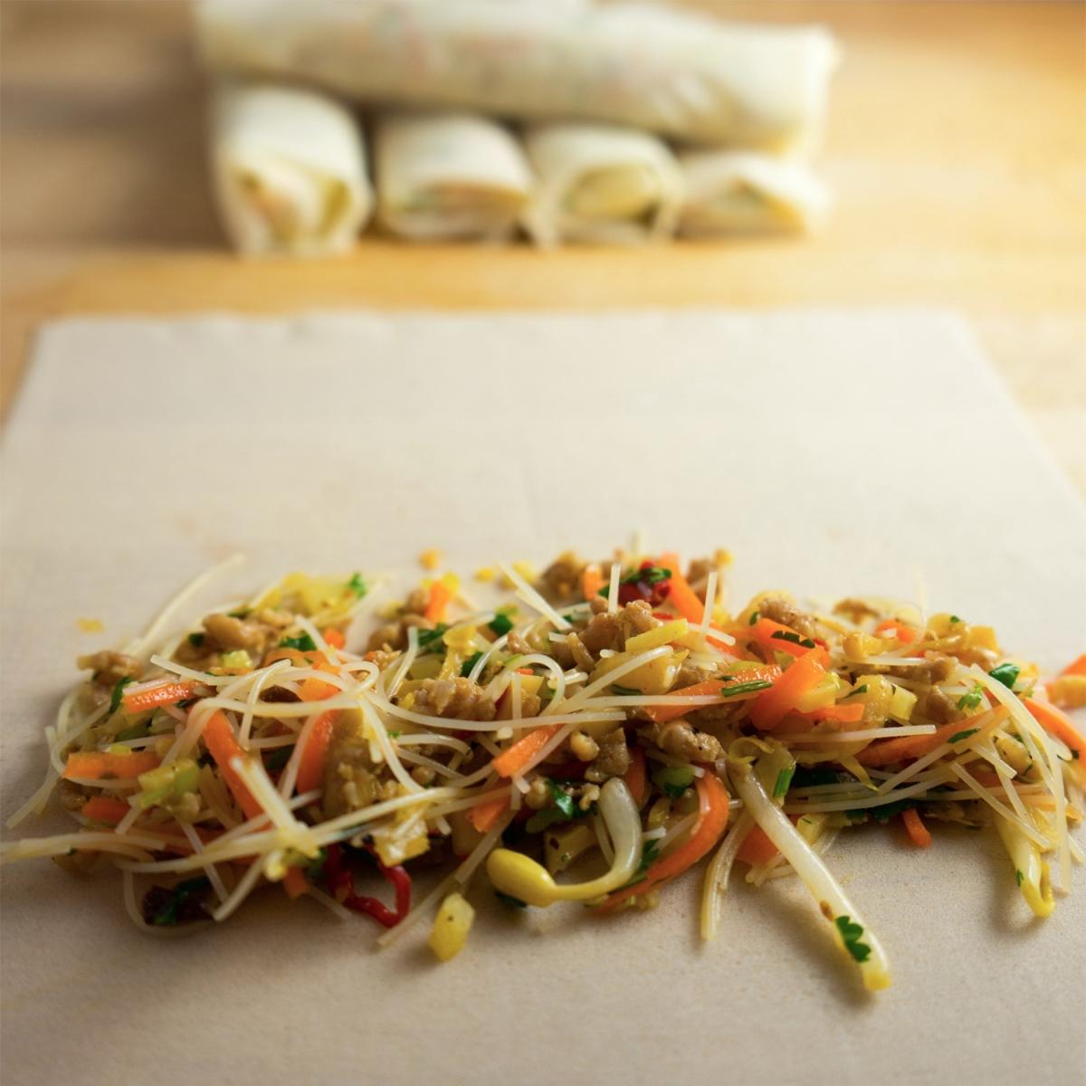 thai spring rolls with pork & prawns – Moorlands Eater